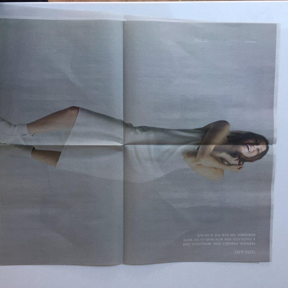 opened mailer spread 2. Courtesy DKNY