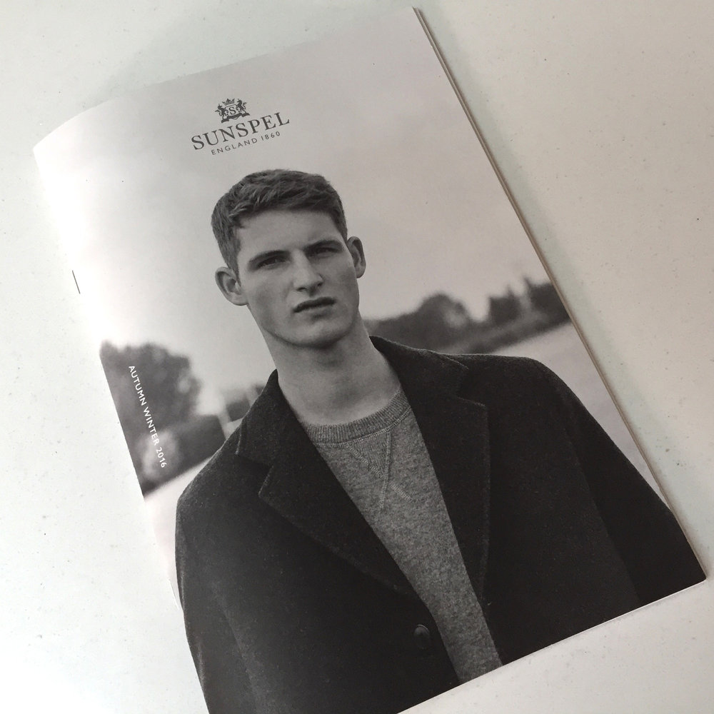 Sunspel A/W 2016 Collection. A5 mailer (courtesy of Sunspel)