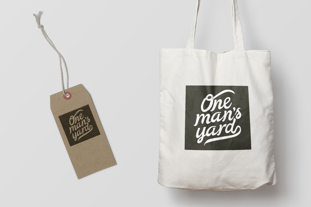 One Man's Yard Swing Tag and Tote Bag