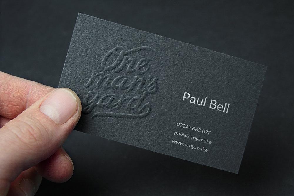 One Man's Yard Business Card