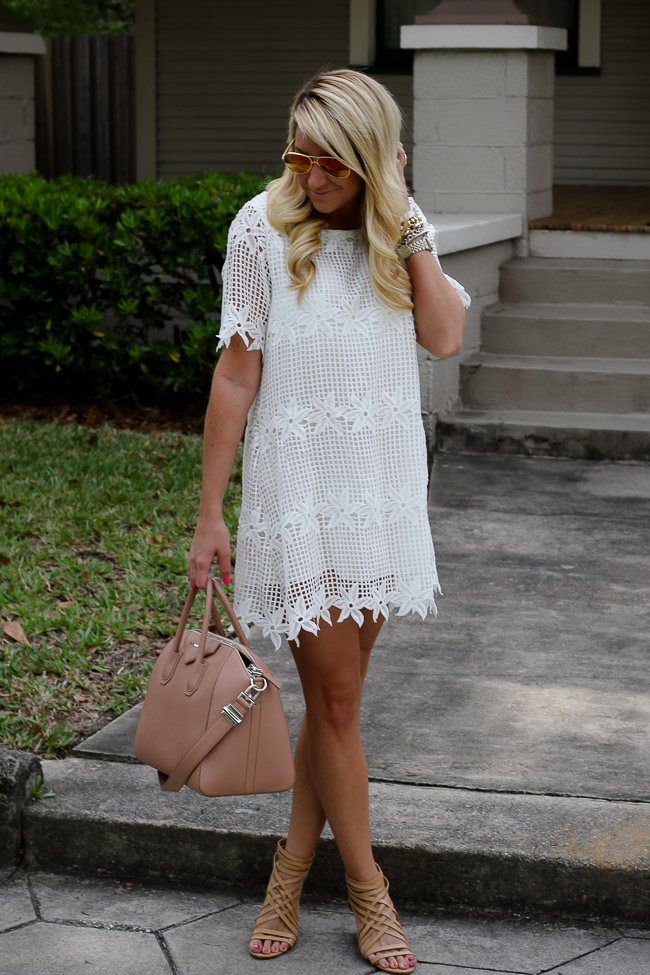 chicwish collab lace dress givenchy antigona handbag nordstrom heels rayban sunglasses reflection pink_-2