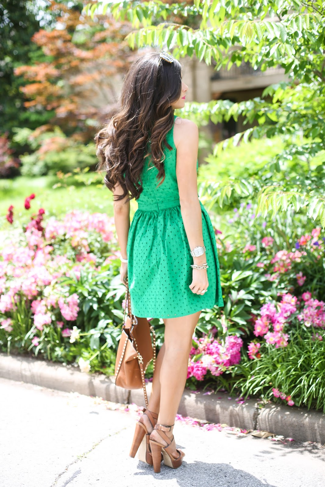 green topshop dress, nordstrom topshop dress, steven madden dezzie heel, summer pinterest fashion 2015, pinterest outfit ideas summer2015, casual summer outfit ideas pinterest-4