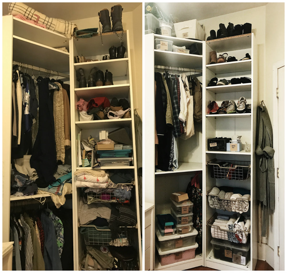 Before & After Tidying | Photo from Lisa Tselbidis