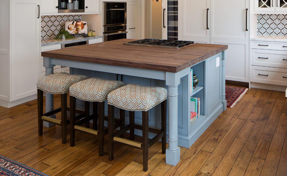 spekva wooden island countertop kitchen seating