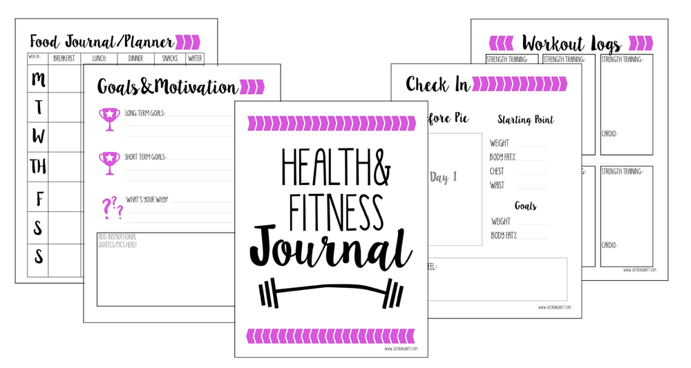graphic relating to Free Printable Fitness Planner referred to as Reward of Creating- Free of charge Exercise Magazine Printable Precisely