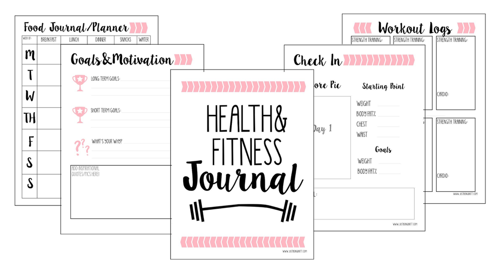 gift of planning free fitness journal printable just being britt