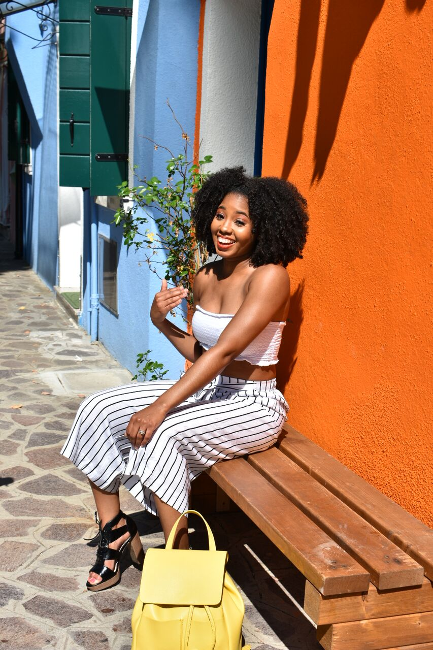 Just Being Britt Jenkins Fitness Lifestyle Travel Blog Spring Burano Italy Style Black Travel Bloggers