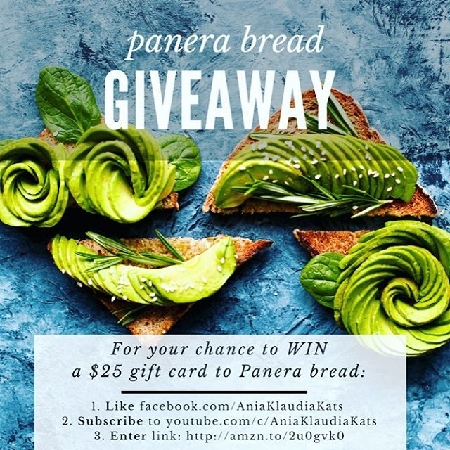 🆓 Hi Friends ❤️‼️📣 ENTER this #amazongiveaway for your chance to win a 💵 Panera Bread Gift Card 🔺Yum!🔺 To win ➡️ 1. Like http://bit.ly/2sjIBcx  2. Subscribe: http://bit.ly/2s44RDa  3. Enter: http://amzn.to/2u0gvk0 📲