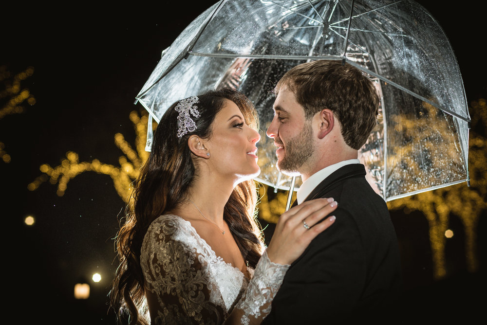 Wedding bliss in the rain at the The Park Château Estate & Gardens