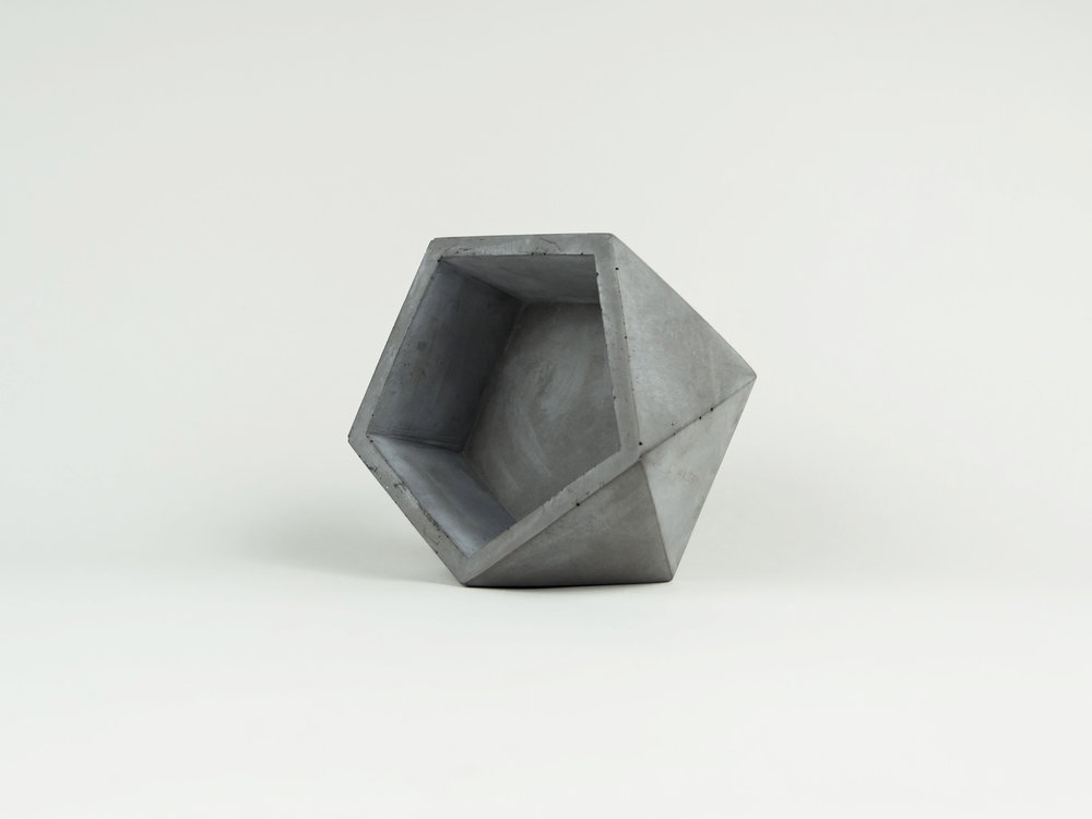 Copy of Geometric Modern Concrete dish and succulent planter by The Savvy heart