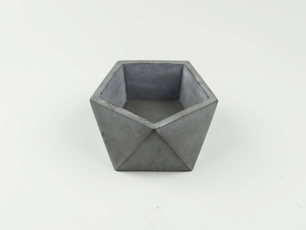 Dark Gray Colored Concrete Vessel Handmade by The Savvy Heart