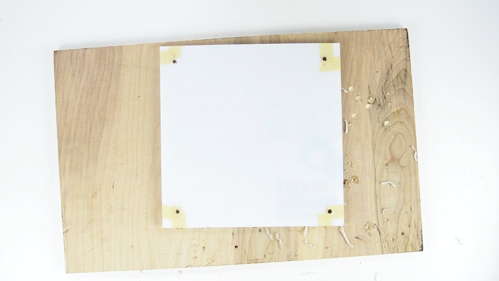 DIY Acrylic Frame with 4 Drilled Holes large enough to fit a standoff through