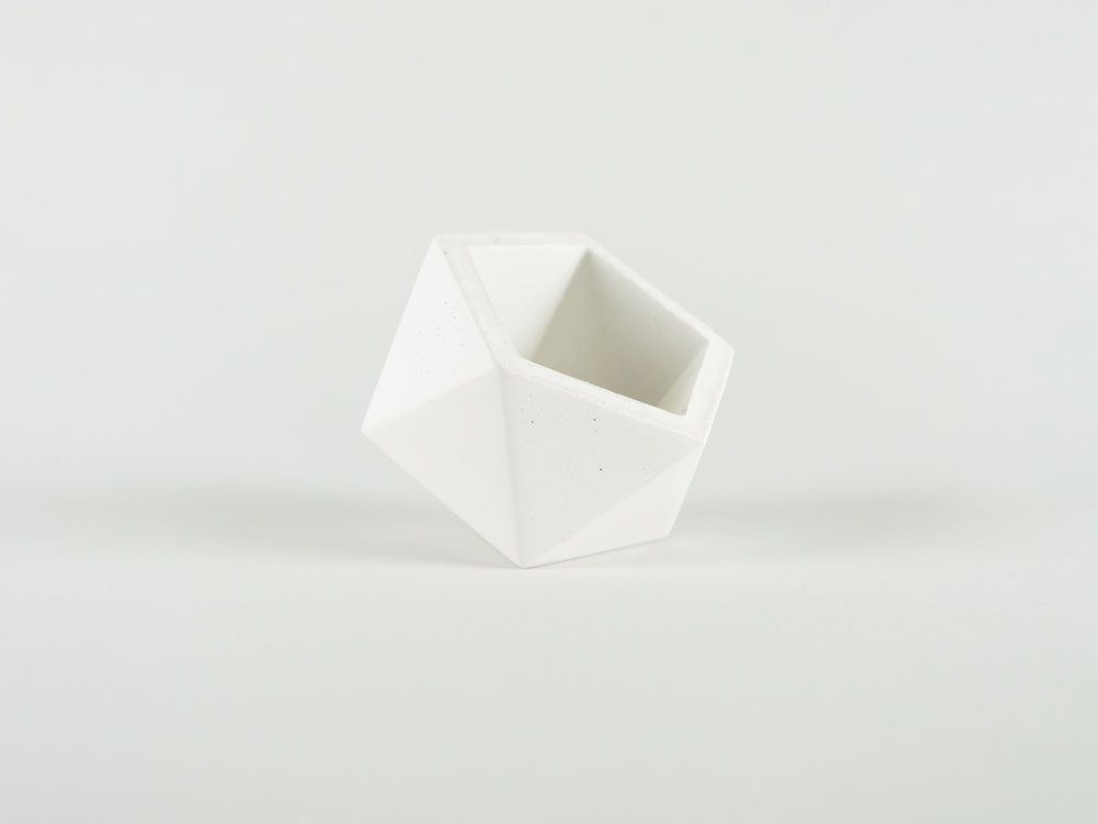 White Color Concrete Vessel Planter pot by the savvy heart.jpg