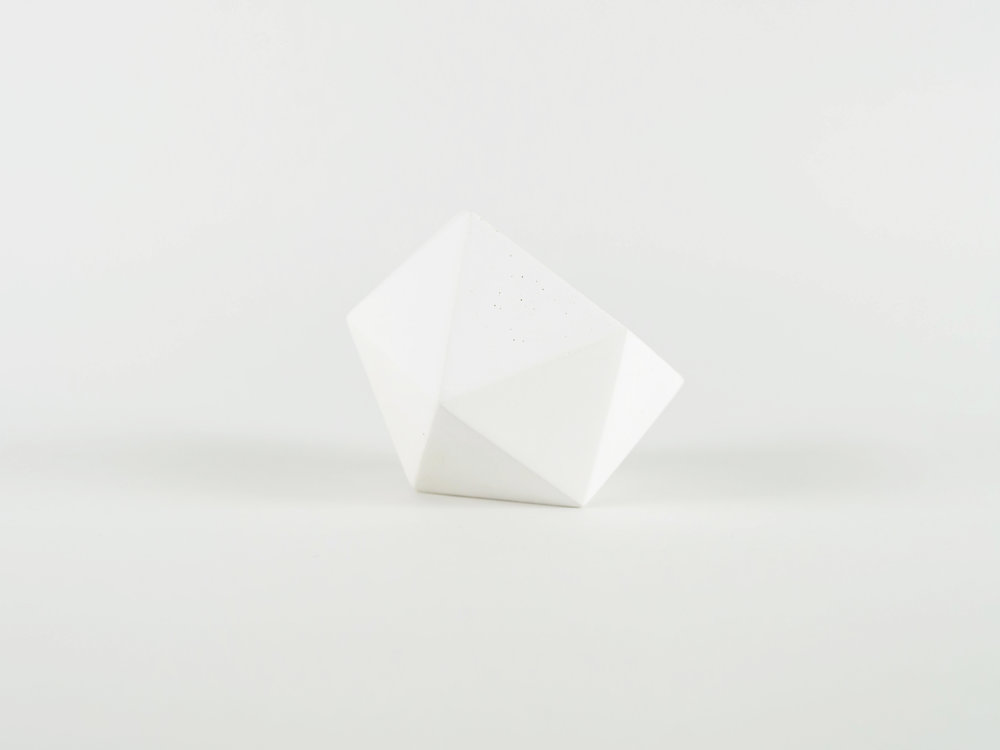 Minimal White Concrete Vessel Catchall by The Savvy Heart.jpg