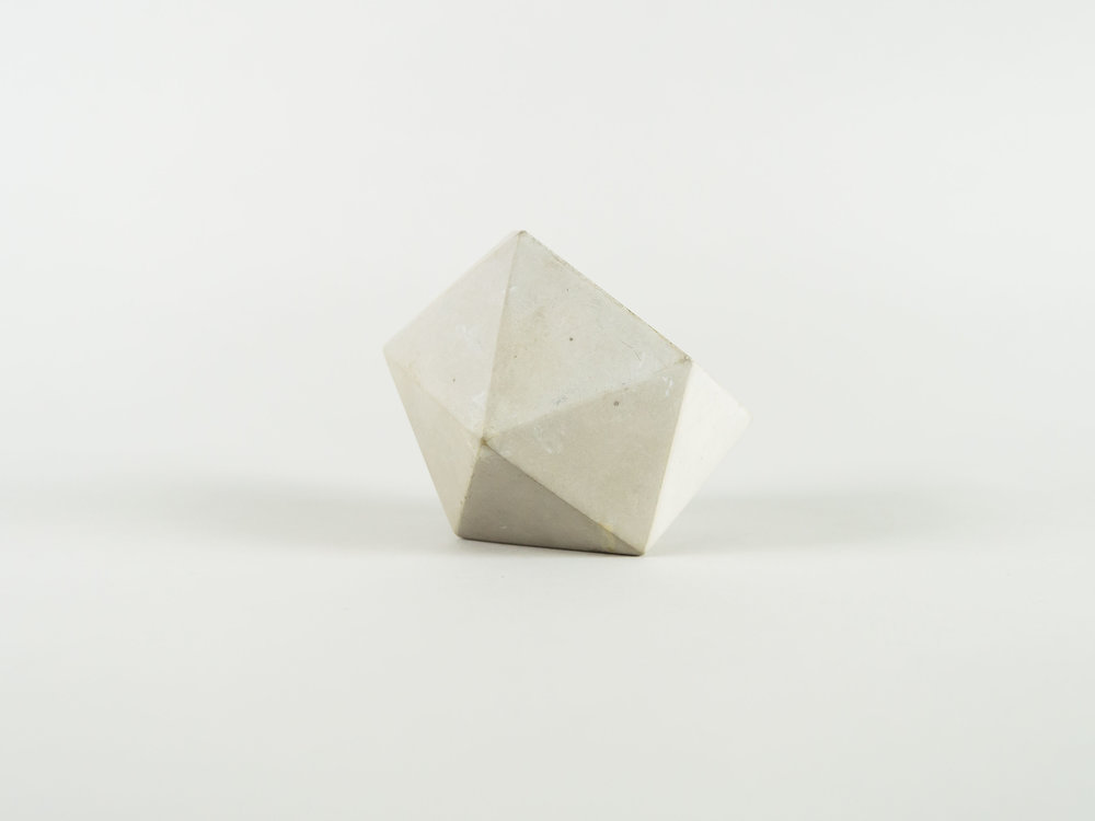 Modern Natural Geometric Concrete Catchall Dish by The Savvy Heart