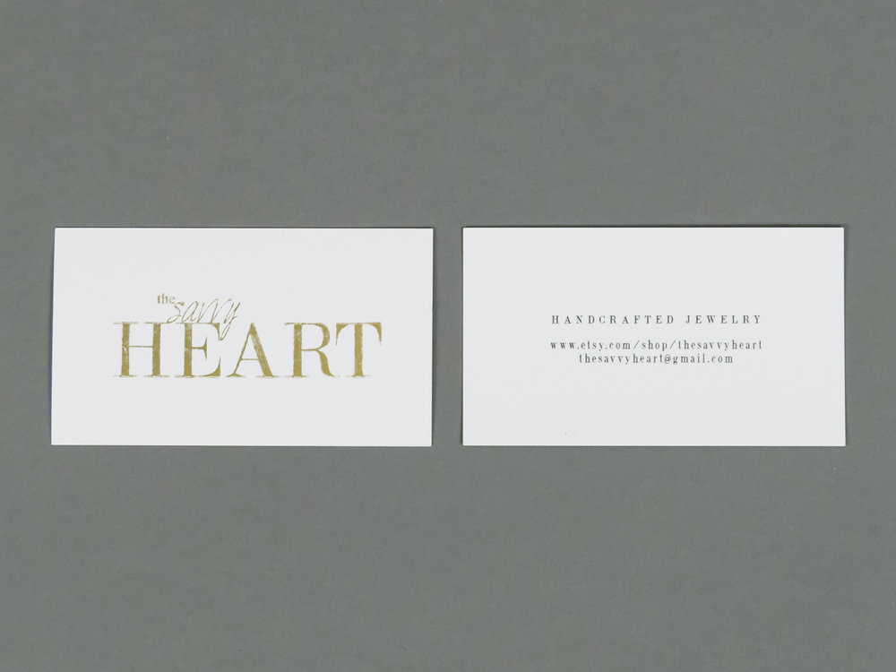 A Flashback of The Savvy Heart in Business Cards