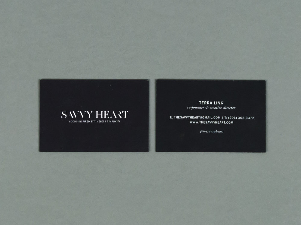 A Flashback of The Savvy Heart in Business Cards — .