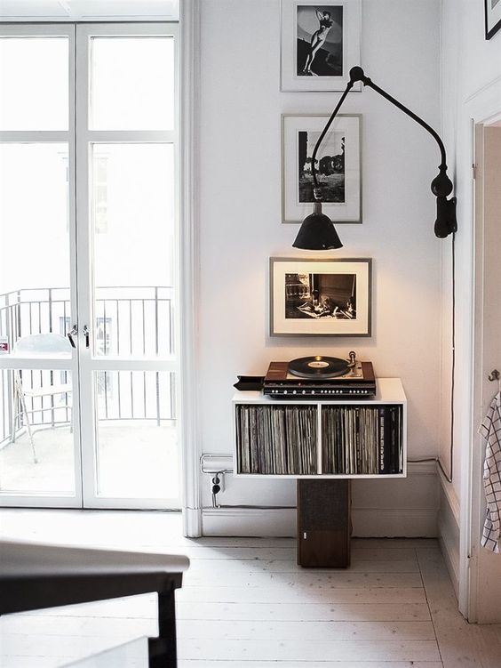 Transition your space by switching up the music. Image  via