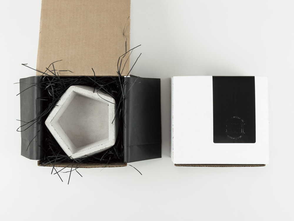 Shipping and Gift Wrapping for COncrete vessels from the savvy heart creative design studio
