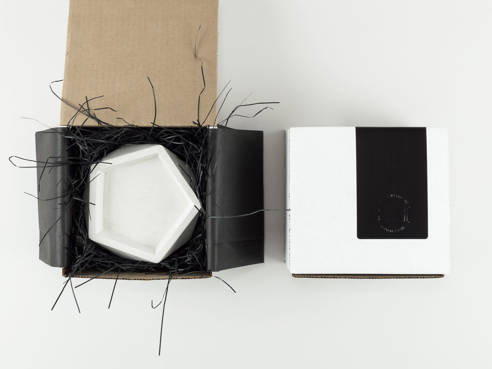 Shipping packaging for Concrete Tray by The Savvy HEart