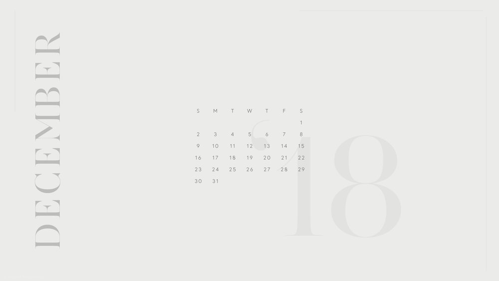 Free 2018 Monthly Desktop Calendar Download by The Savvy Heart Creative Design Studio