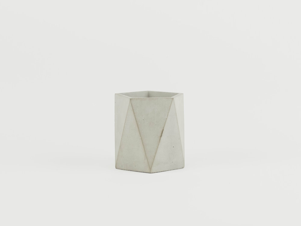 Small Concrete Votive Candle Holder with Modern Geometric Design by The Savvy Heart