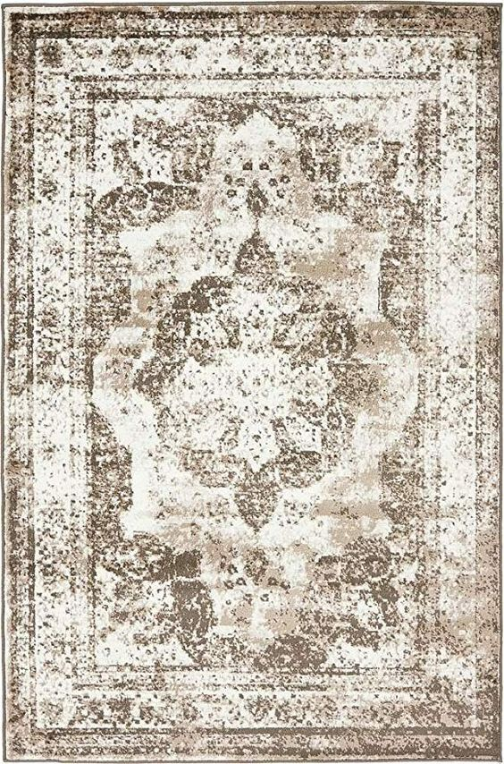 Unique Loom Sofia Collection Traditional Vintage Light Brown Area Rug Kitchen & Dining.jpg