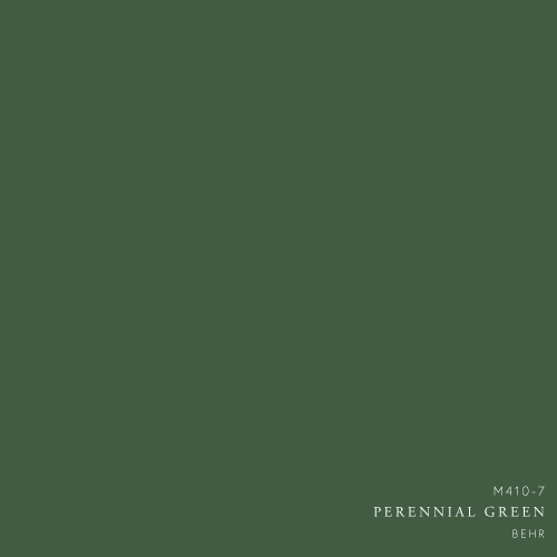 Perennial Green Paint Color by Behr - How to decorate with green color palette