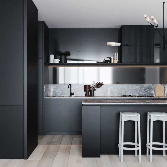 Black painted walls and Kitchens - Interior design trends for 2019 by The Savvy Heart.