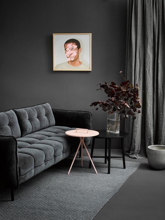 an all gray room with tone on tone decorating - top interior design trends of 2019.jpg