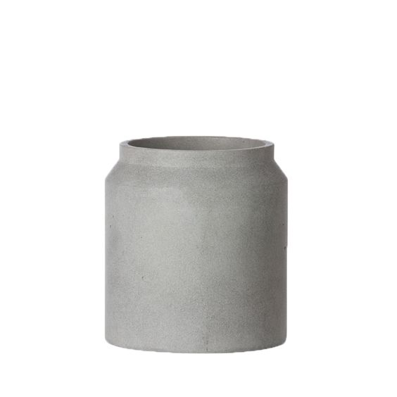 Ferm Living grey concrete pot and planter for indoors.jpg
