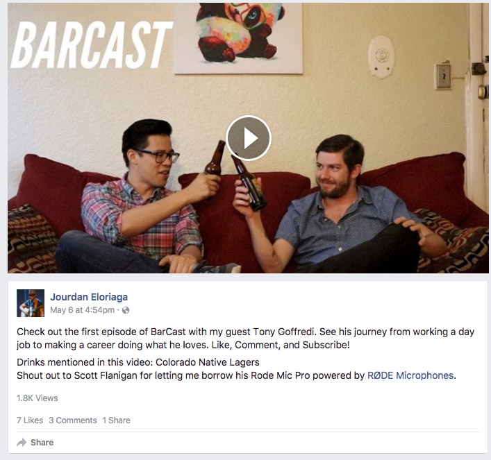 Barcast Episode 1 with Tony Goffredi & Jourdan Eloriaga