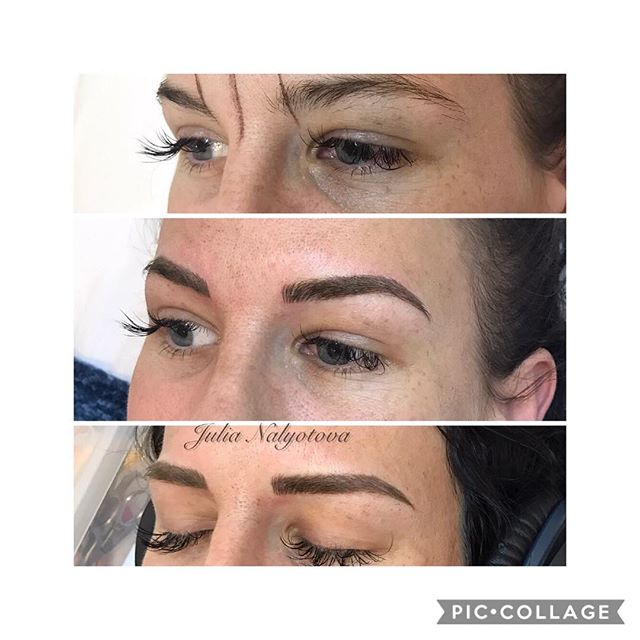 Microblading with Yuliia!! Message us for specials this month 💕 (natural semi permanent eyebrow makeup, lasts 1-2 years)