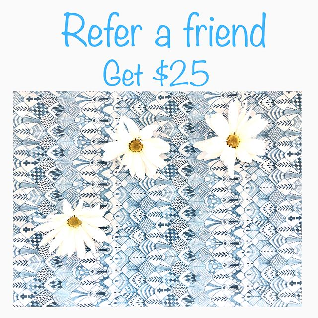 50% off facials, waxing and lashes for our current clients friends! April 23-30th. For every friend you refer you get $25 on your account! (See post for details and rules) tag them and get an additional $5💆🏻‍♀️