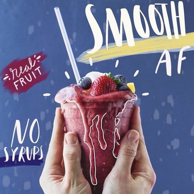 Have you tried our smoothies? #smoothaf