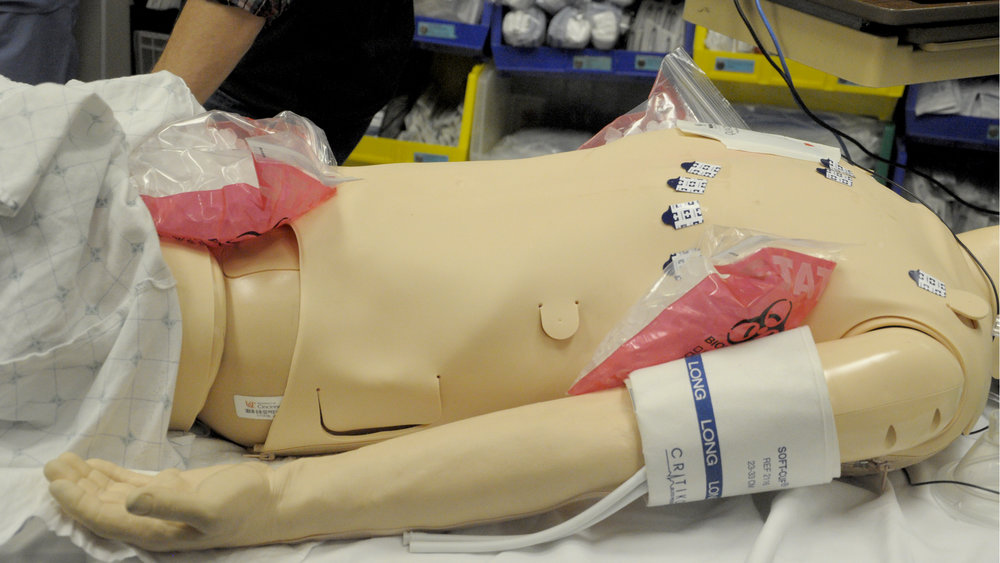 Ice bags are placed in areas of high circulation, including groin, neck and underarms.