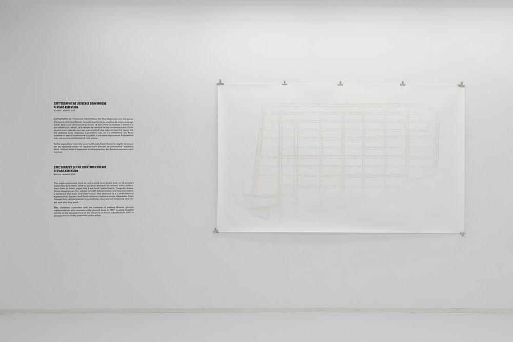 260 cm x 150 cm  (crédit photo Éliane Excoffier)