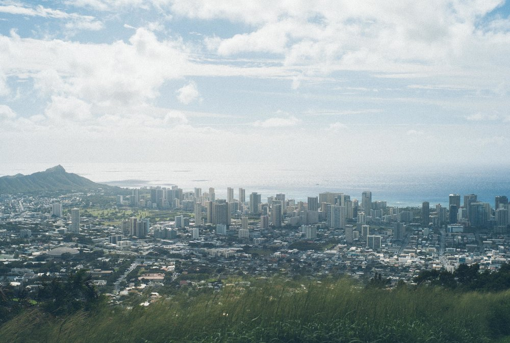 Honolulu skyline in Hawaii