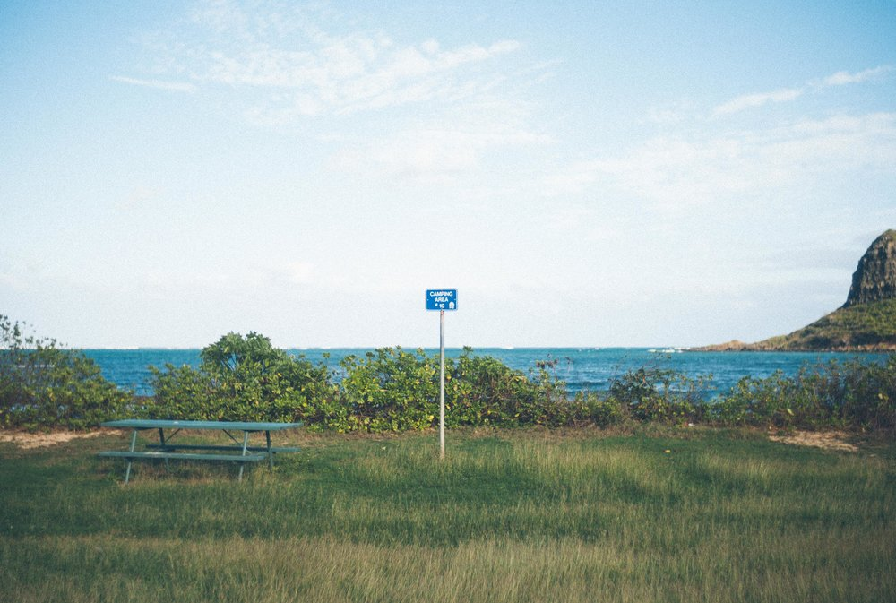 Sign on the beach in Hawaii