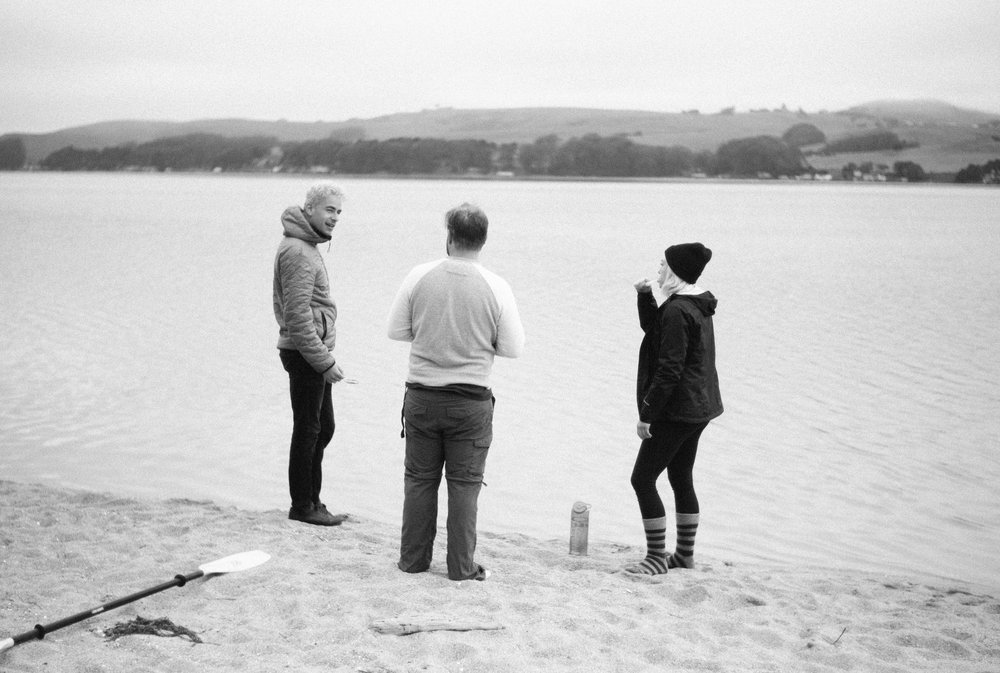 Jerome, Beau and Sheena on the beach