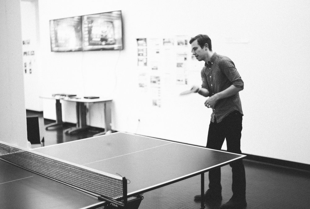 More Parker playing pingpong