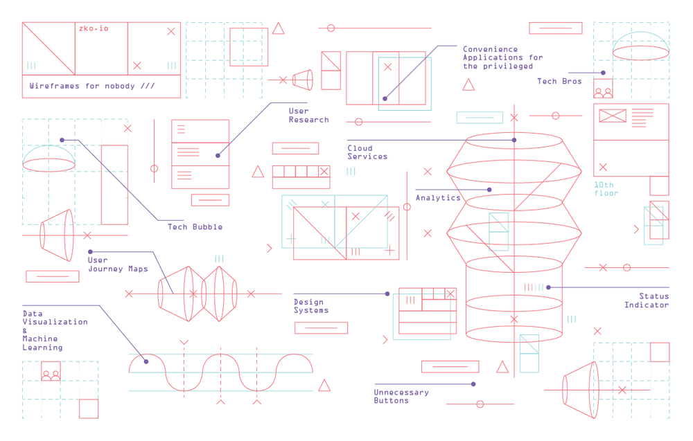 Wireframes for Nobody