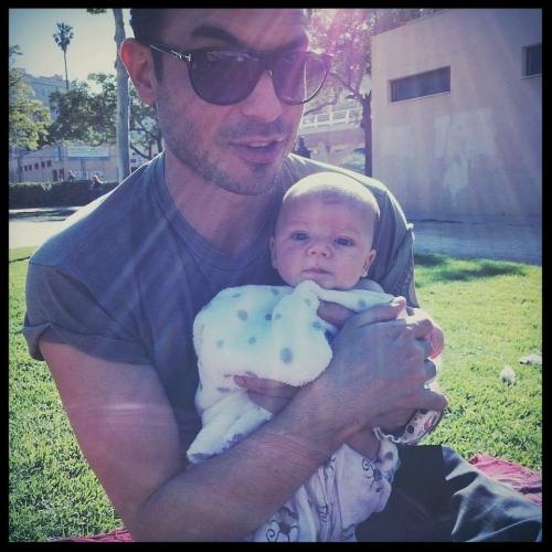 En el parque - Con mi hijo Oscar.