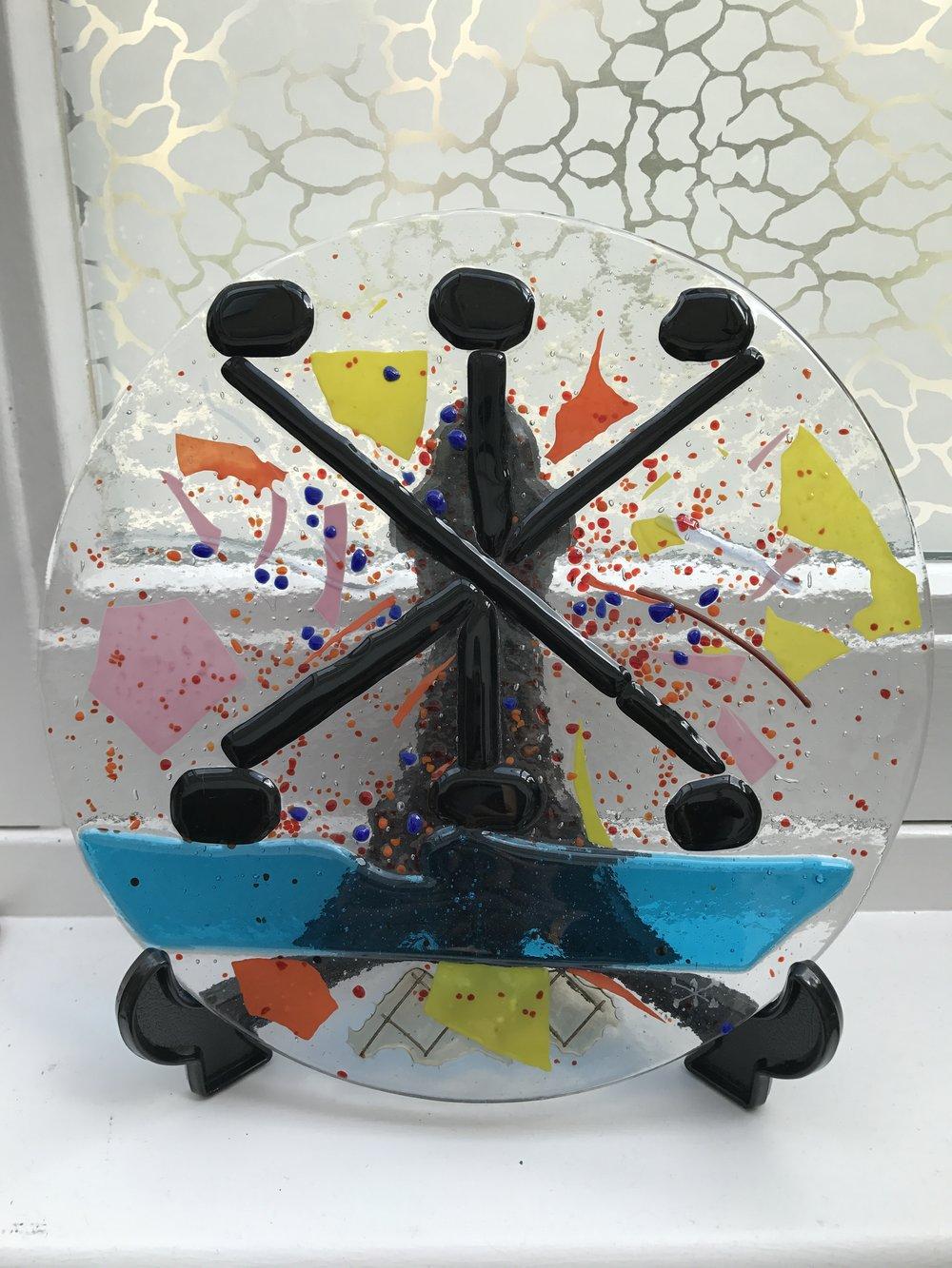 Award, glass object by Bikkel, founder Gallery Kunst aan de Kade