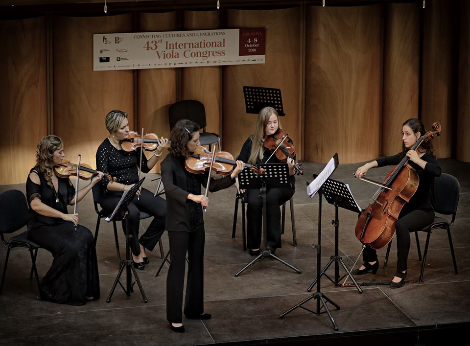 With Benedetta Bucci, Roberta Malavolti, Karina Gallagher and Aiveen Gallagher performing Rolla's concerto for viola, op. 3