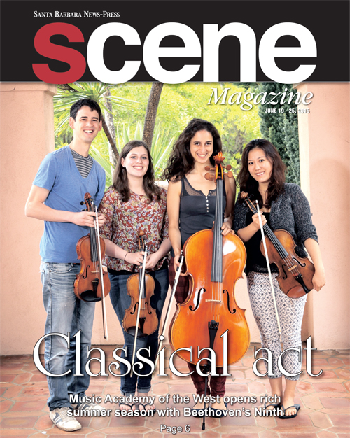 "The Hoffman Quartet featured on Santa Barbara's ""Scene"" magazine"