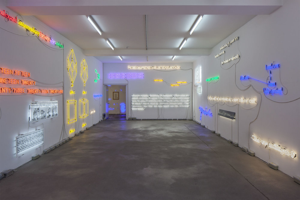Joseph Kosuth, Insomnia: assorted, illuminated, fixed, Sprüth Magers Berlin, 2013