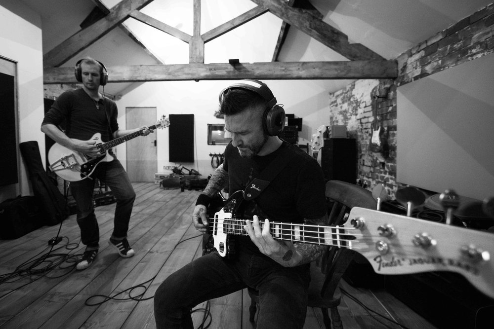 Click the image to read  Louder Than War  contributor Rahman the Writer's rave review of the double-barrel single   Steel City Sessions  . Studio photo by: Nigel Murgatroyd