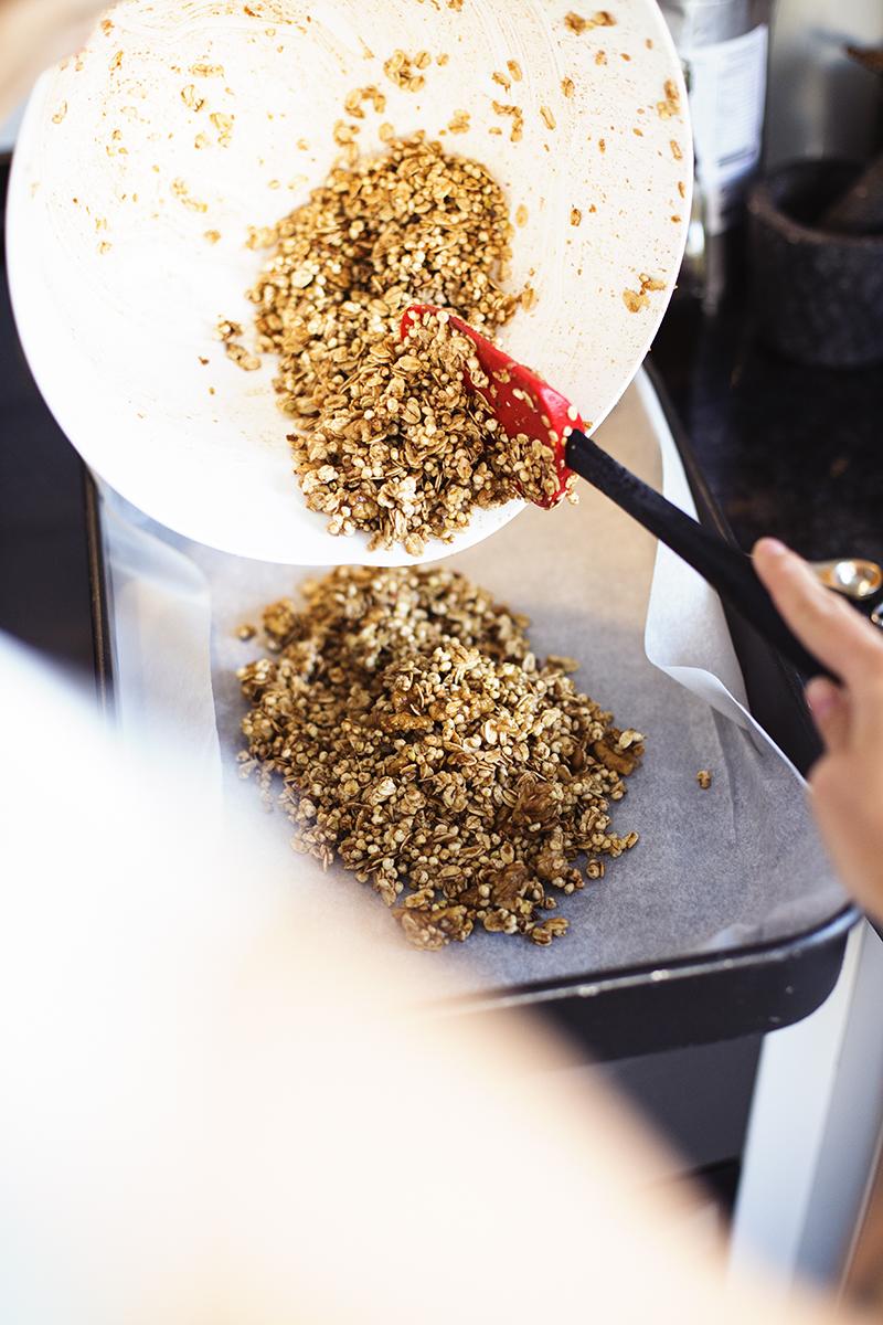 Receita Vegan e Saudável  de Granola de Pêra & Gengibre do blog Cocoon Cooks