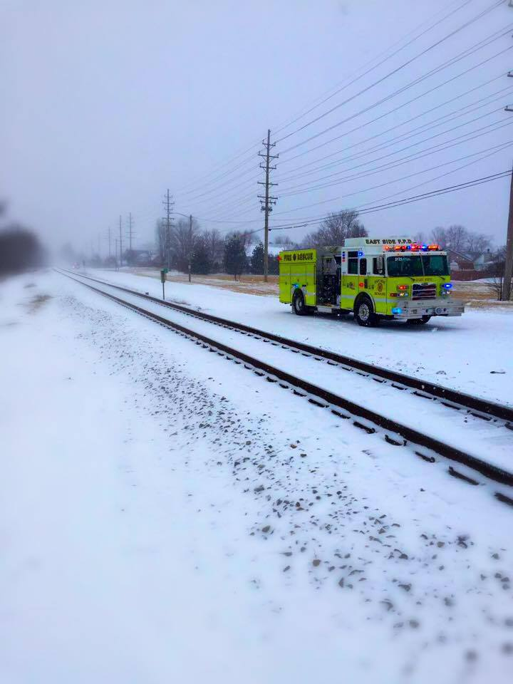 In February 2016, East Side responded to a bus that stalled-out while crossing the railroad tracks at East 'B' Street Rd and Green Mount Blvd.  The bus was successfully moved off the tracks before any trains approached the intersection.